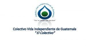 Colectivo Vida Independiente de Guatemala El Colectivo Registro