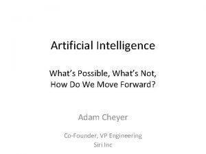 Artificial Intelligence Whats Possible Whats Not How Do