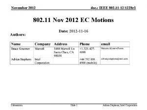 November 2012 doc IEEE 802 11 121228 r