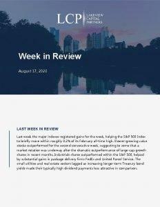 Week in Review August 17 2020 LAST WEEK