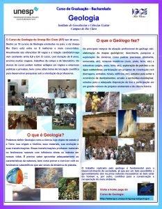 Curso de Graduao Bacharelado Geologia Instituto de Geocincias