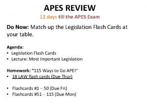APES REVIEW 12 days till the APES Exam
