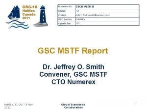 Document No GSC 16 PLEN42 Source TIA Contact