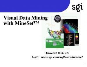 TM Visual Data Mining with Mine Set Mine