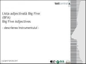 Lista adjectival Big Five BFA Big Five Adjectives