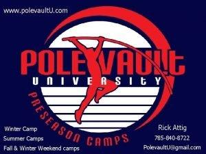 www polevault U com Winter Camp Summer Camps