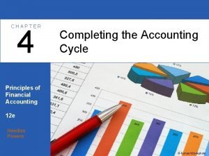 CHAPTER 4 Completing the Accounting Cycle Principles of