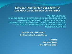 ESCUELA POLITCNICA DEL EJRCITO CARRERA DE INGENIERA DE