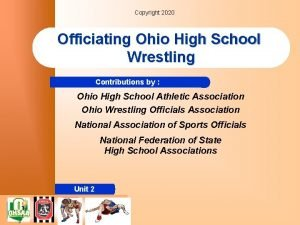 Copyright 2020 Officiating Ohio High School Wrestling Contributions