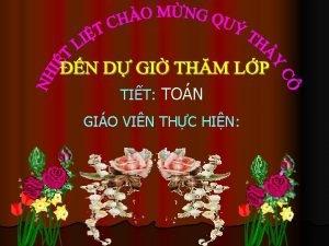 TIT TON GIO VIN THC HIN TON KIM