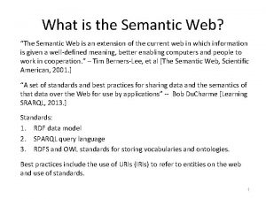 What is the Semantic Web The Semantic Web