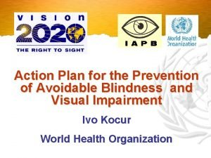 Action Plan for the Prevention of Avoidable Blindness
