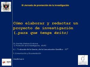 III Jornada de promocin de la investigacin Cmo
