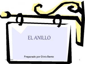 EL ANILLO Preparado por Dinis Bento 11032021 1