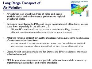 Long Range Transport of Air Pollution Air pollution