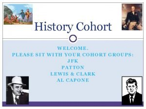 History Cohort WELCOME PLEASE SIT WITH YOUR COHORT