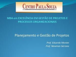 MBA em EXCELNCIA EM GESTO DE PROJETOS E
