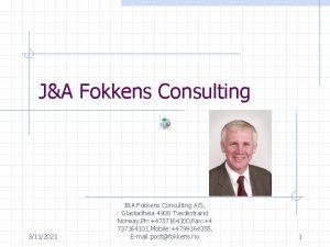 JA Fokkens Consulting 3112021 JA Fokkens Consulting AS