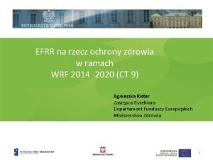 EFRR na rzecz ochrony zdrowia w ramach WRF