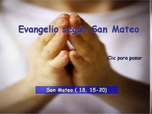 Evangelio segn San Mateo 18 15 20 Lectura