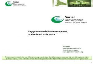 Engagement model between corporate academia and social sector