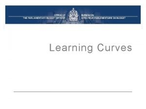Learning Curves Learning Curve Introduction Learning Curves are