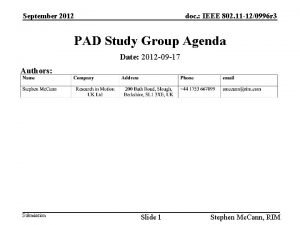 September 2012 doc IEEE 802 11 120996 r
