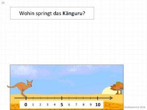 Wohin springt das Knguru Aufgabe 1 Wohin springt