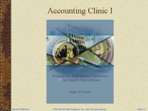 Accounting Clinic I Mc GrawHillIrwin The Mc GrawHill