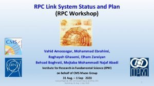 RPC Link System Status and Plan RPC Workshop