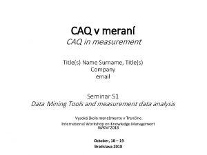 CAQ v meran CAQ in measurement Titles Name