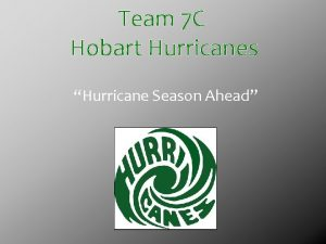 Team 7 C Hobart Hurricanes Hurricane Season Ahead