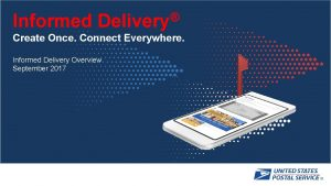 Informed Delivery Create Once Connect Everywhere Informed Delivery