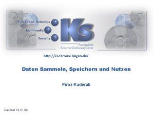 http ks fernunihagen de Daten Sammeln Speichern und