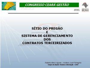 CONGRESSO CEAR GESTO PBLICA STIO DO PREGO E