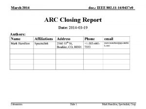 March 2014 doc IEEE 802 11 140437 r