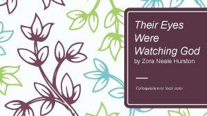 Their Eyes Were Watching God by Zora Neale