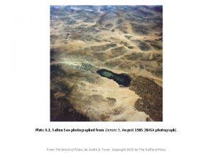 Plate 6 1 Salton Sea photographed from Gemini