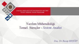 Yazlm Mhendislii Temel Sreler Sistem Analizi Do Dr