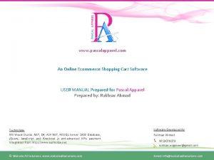 www pascalapparel com An Online Ecommerce Shopping Cart