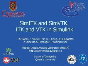 Sim ITK and Sim VTK ITK and VTK