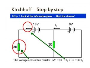 Kirchhoff Step by step Step 1 Look at