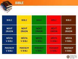 BIBLE BIBLE NOV ZKON NOV ZKON MSTA V
