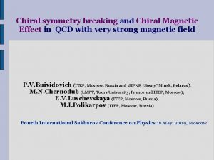 Chiral symmetry breaking and Chiral Magnetic Effect in