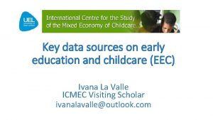 Key data sources on early education and childcare