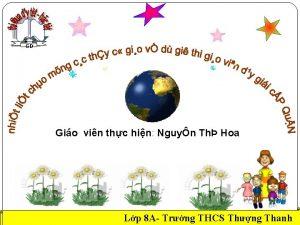 GD Gio vin thc hin Nguyn Th Hoa