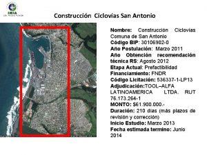 Construccin Ciclovas San Antonio Nombre Construccin Ciclovas Comuna