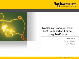 Towards a KeywordDriven Test Presentation Format using Test