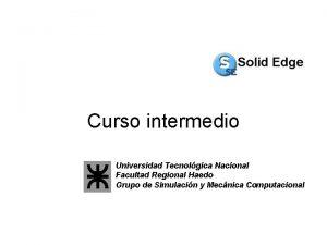 Curso intermedio Universidad Tecnolgica Nacional Facultad Regional Haedo