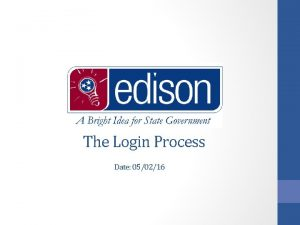 The Login Process Date 050216 Identity and Access